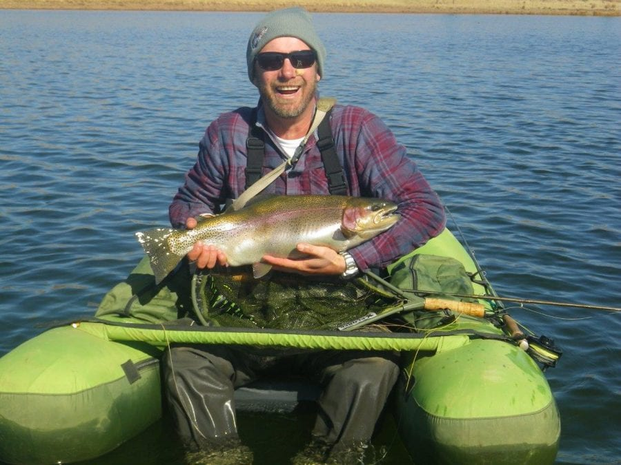 Float Tubing for Monster Trout- July 2015